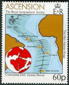 Ascension stamp, Mid-Atlantic rift